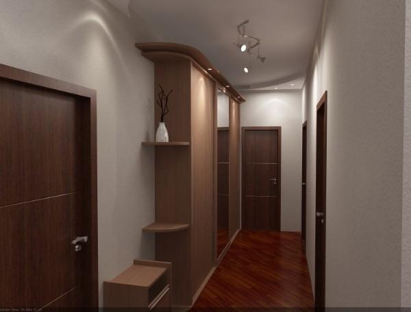 благородный серрый тон в дизайне коридора в квартире