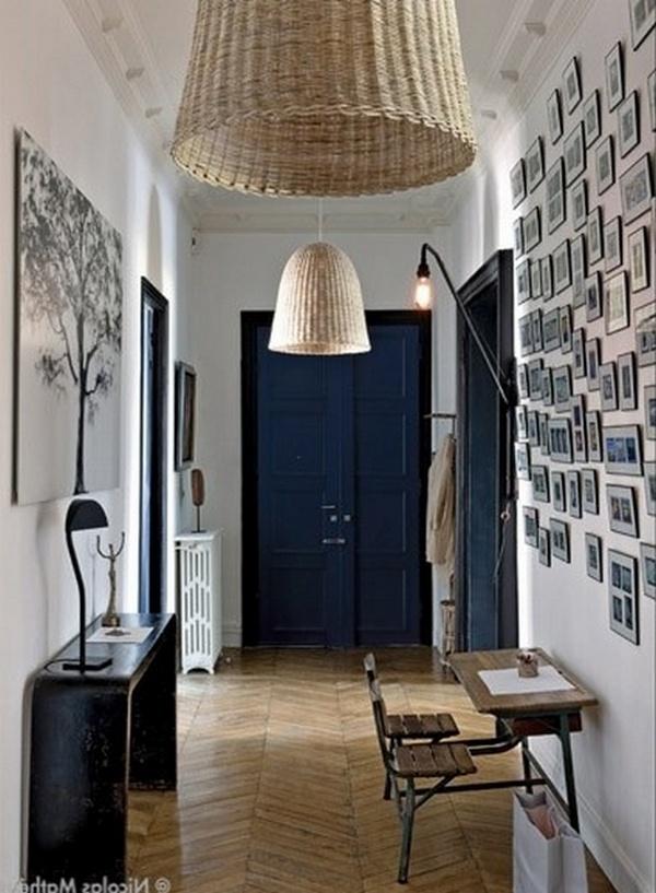 дизайн длинного узкого коридора в трёхкомнатной квартире фото