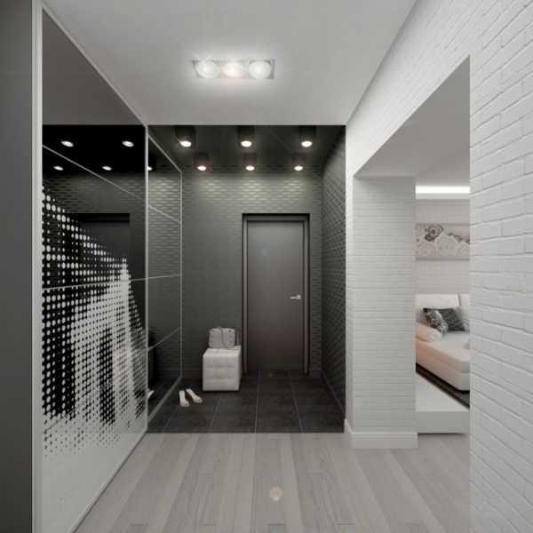 дизайн коридора в квартире хай тек