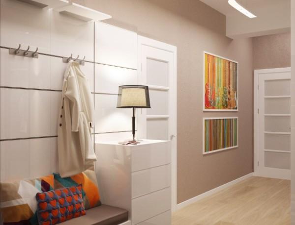 дизайн коридора в квартире в светлых тонах