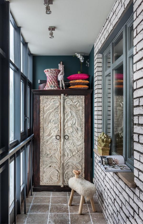 дизайн красивых шкафчиков на балкон