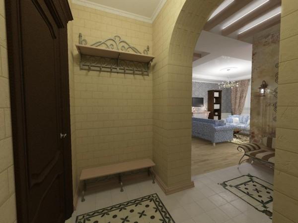 дизайн квадратного коридора в квартире
