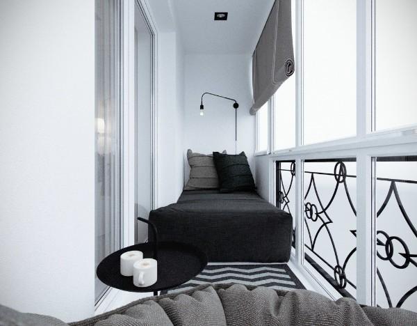 дизайн маленького балкона мини спальня