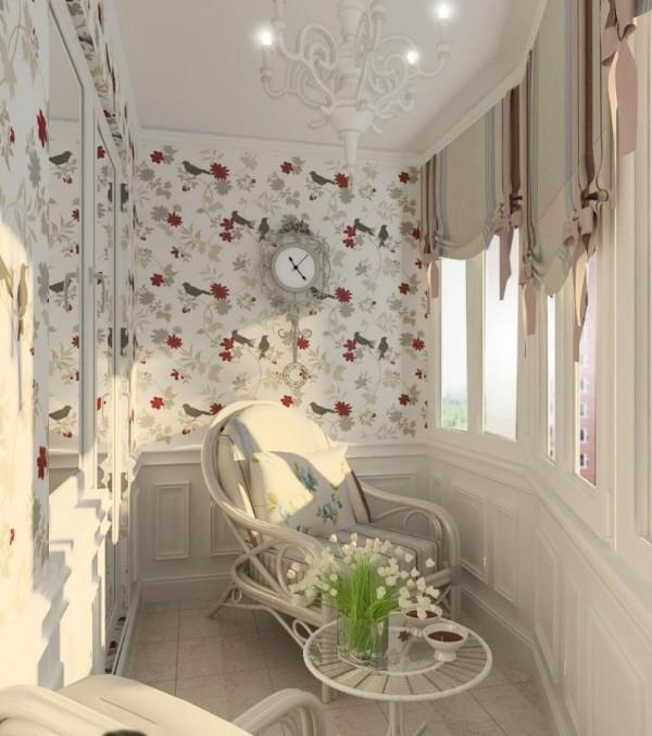 дизайн маленького балкона в стиле прованс
