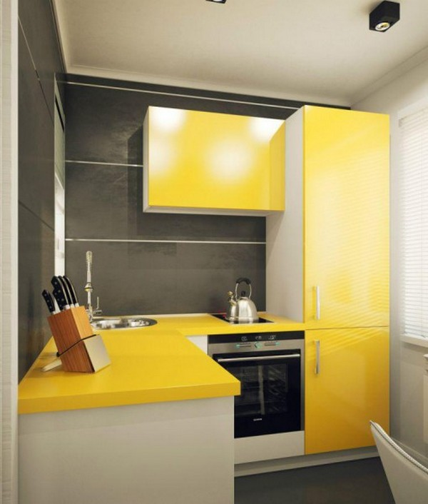 дизайн маленького кухонного гарнитура
