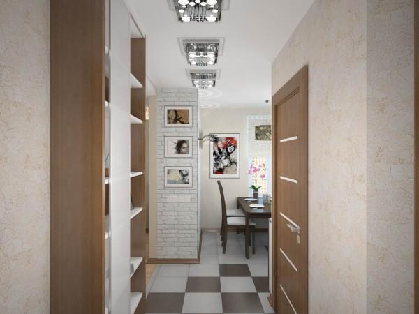 дизайн обоев коридора в квартире