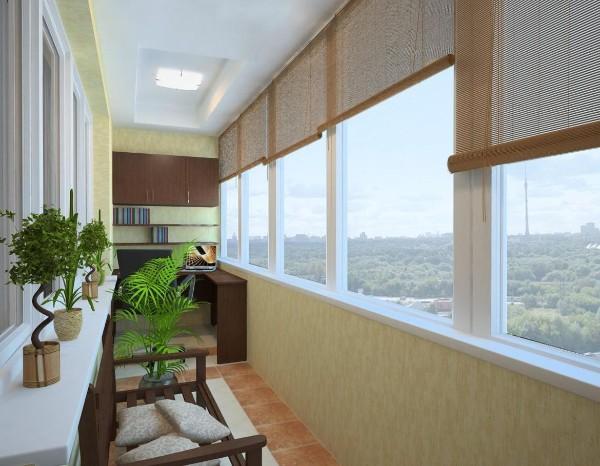 дизайн рабочий кабинет на маленьком балконе
