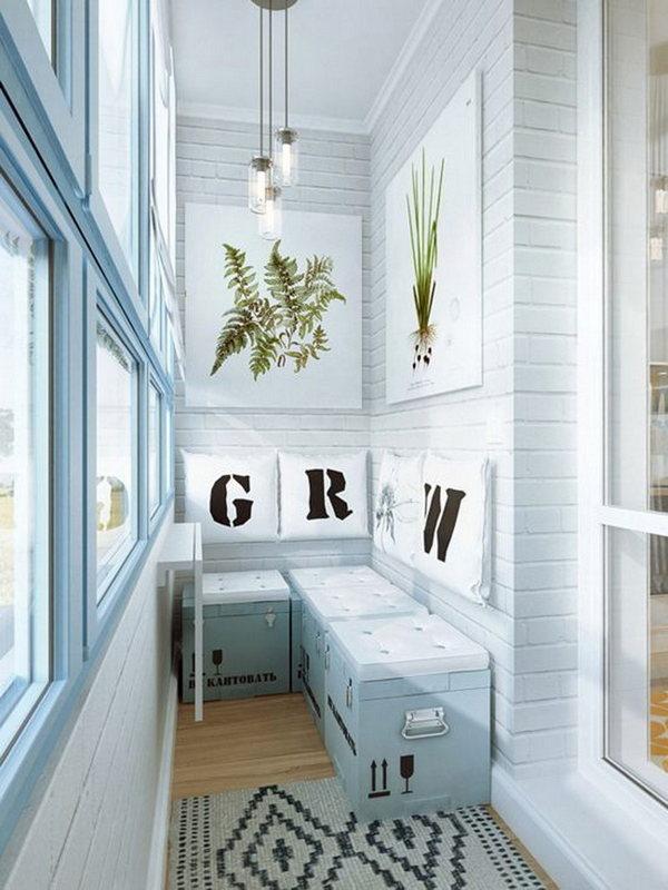 дизайн шкафчиков на балкон