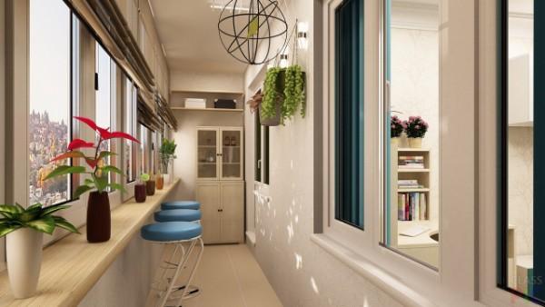 дизайн узкого маленького балкона
