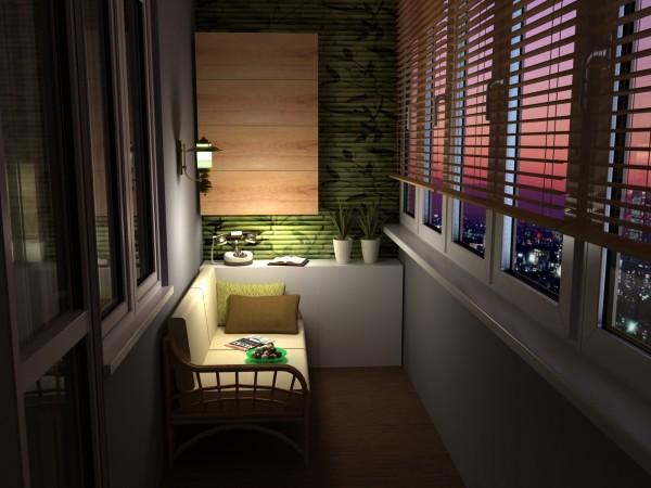 душевный дизайн балкона маленького размера