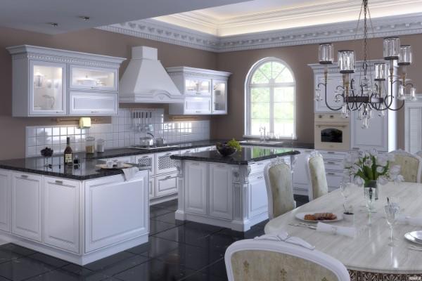 фасад кухни белого цвета классика