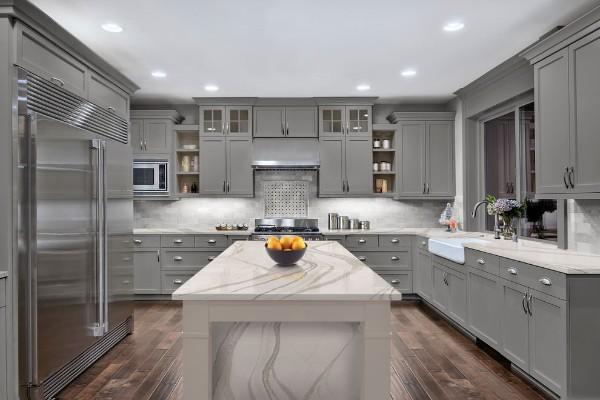 фасад кухни благородного серого цвета