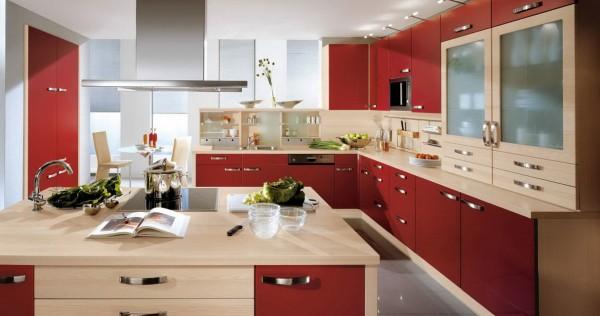 фасад кухни цвета гнилой вишни