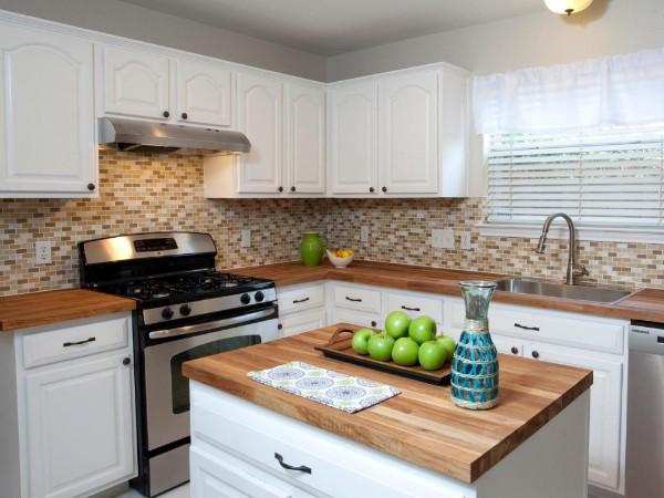 фото угловой кухонный гарнитур для кухни белый цвет