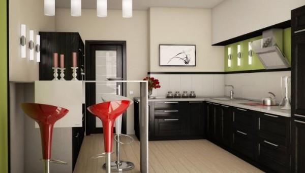 фото углоовой кухонный гарнитур для кухни стильный дизайн