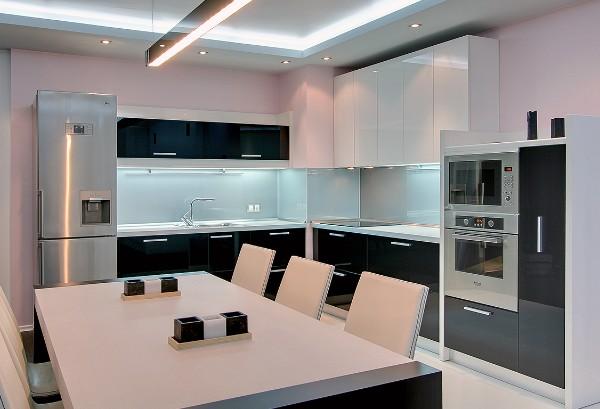 фото угловой кухонный гарнитур для небольшой кухни минимализм