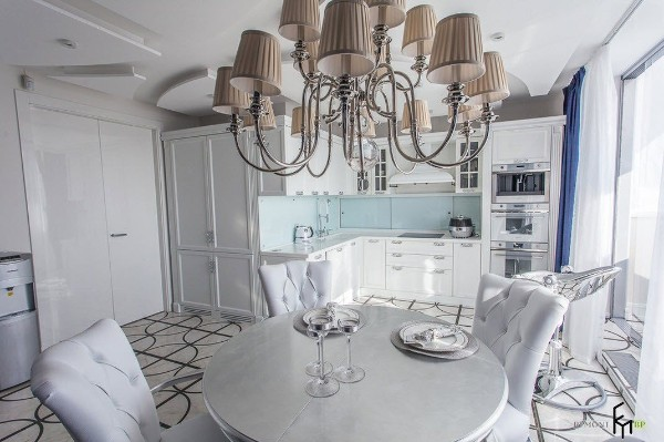 фото угловой кухонный гарнитур для небольшой кухни модерн
