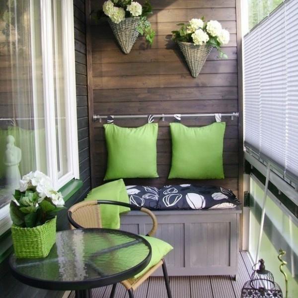 идеи дизайна маленького балкона уютное место отдыха