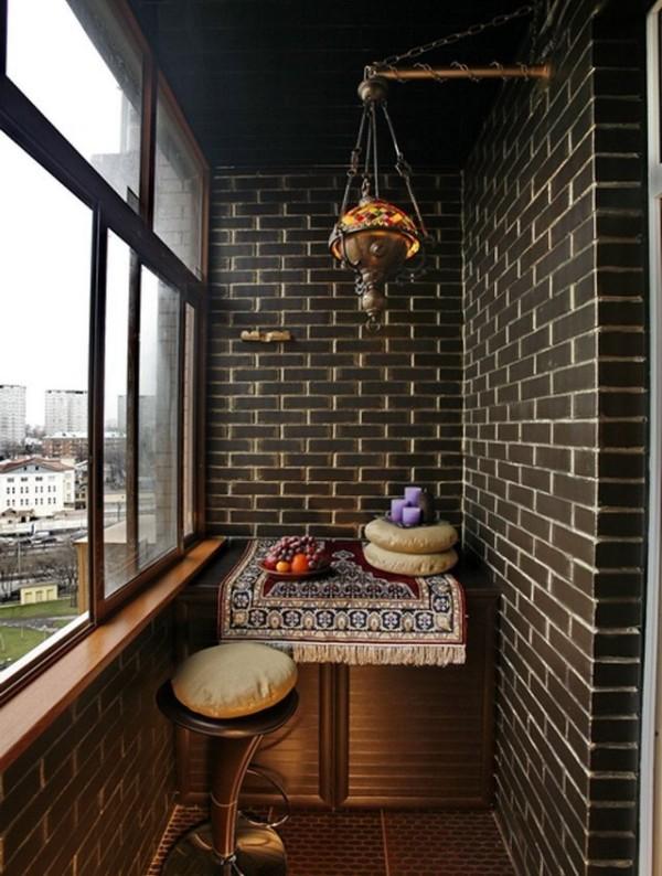 идеи дизайна маленького балкона восток