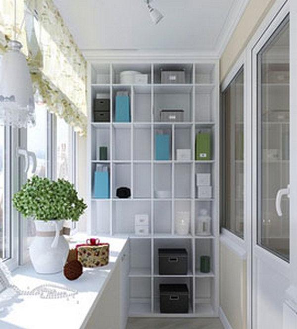 как сделать шкафчики стеллажи на балконе