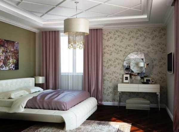 как скомбинировать обои в спальне оригинальный дизайн