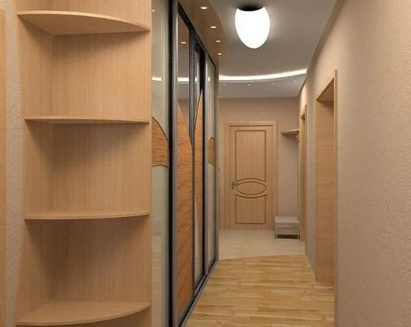 кофейный оттенок в коридоре в квартире