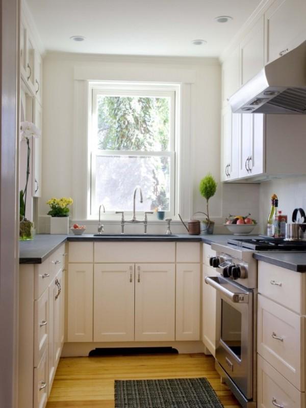 Угловые кухни для маленькой кухни, фото