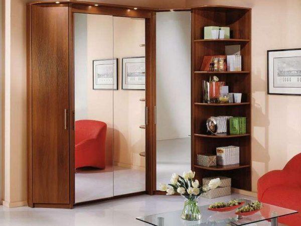 красивые купе шкафы угловые в гостиную фото
