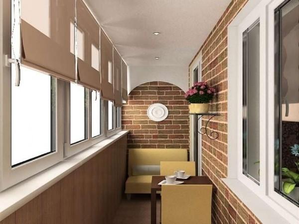 креативный дизайн маленького балкона