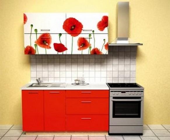 кухонный гарнитур маленькой кухни в хрущёвке