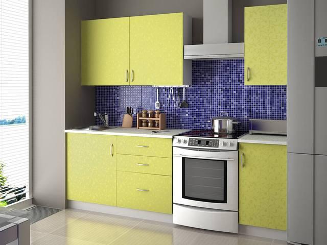 кухонный гарнитур лимонный