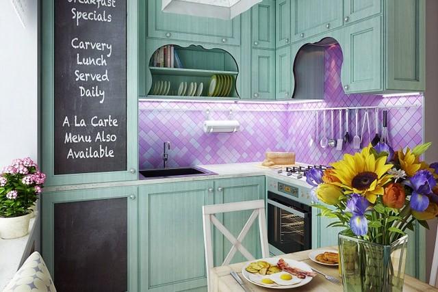 кухонный гарнитур для маленькой кухни 6 кв м фото
