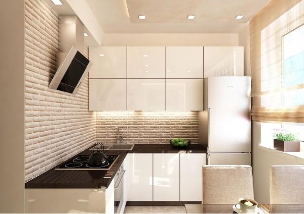 лаконичный кухонный гарнитур для маленькой кухни