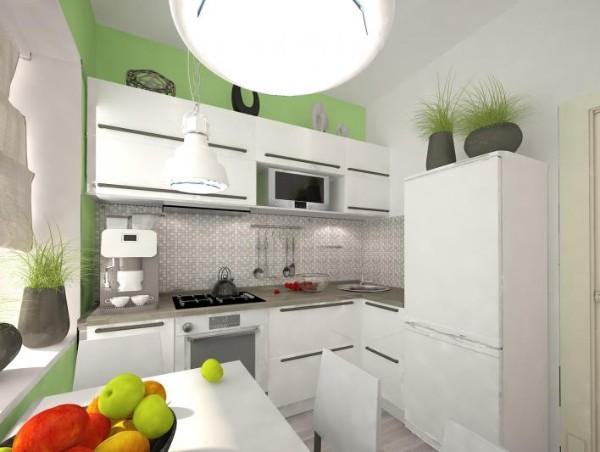 маленькая угловая кухня для маленькой кухни с угловой мойкой
