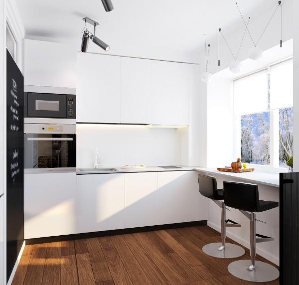 маленькая угловая кухня для маленькой кухни стиль модерн