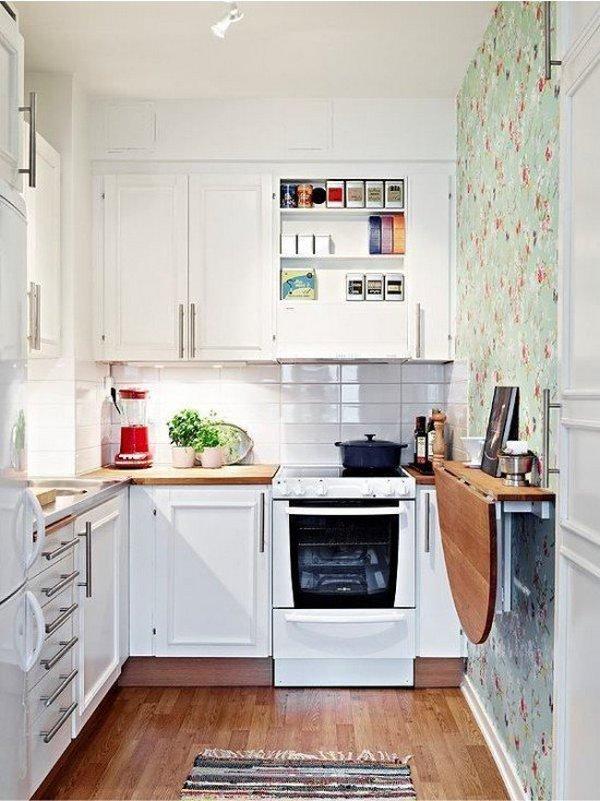 маленькие кухонные гарнитуры фото в интерьере