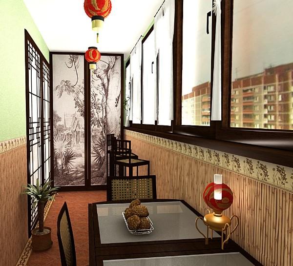 маленький балкон дизайн в японском стиле фото