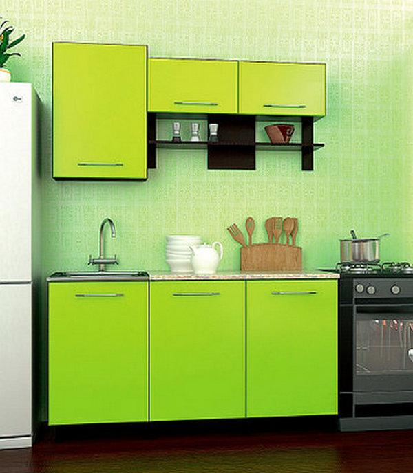 маленький кухонный гарнитур для хрущёвки фото