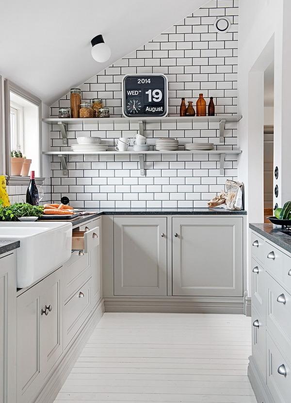 маленький угловой кухонный гарнитур красивый