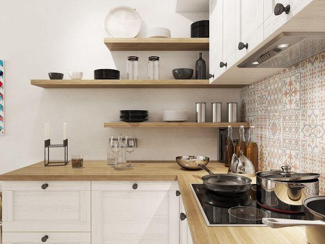 маленький угловой кухонный гарнитур на фото