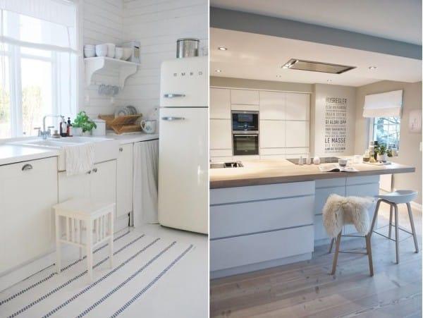 маленький угловой кухонный гарнитур в интерьере