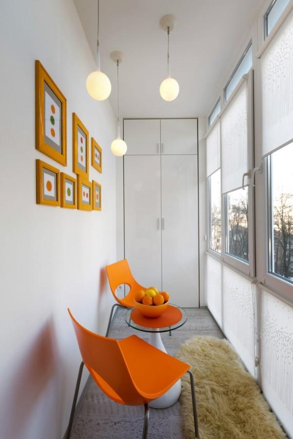 маленький узкий балкон дизайн фото