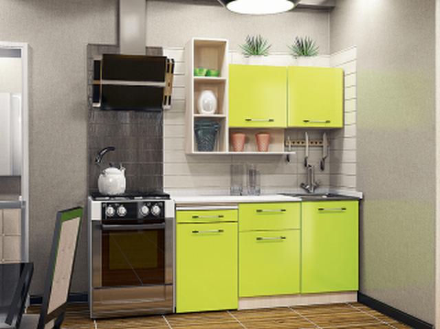зелёная мини кухня
