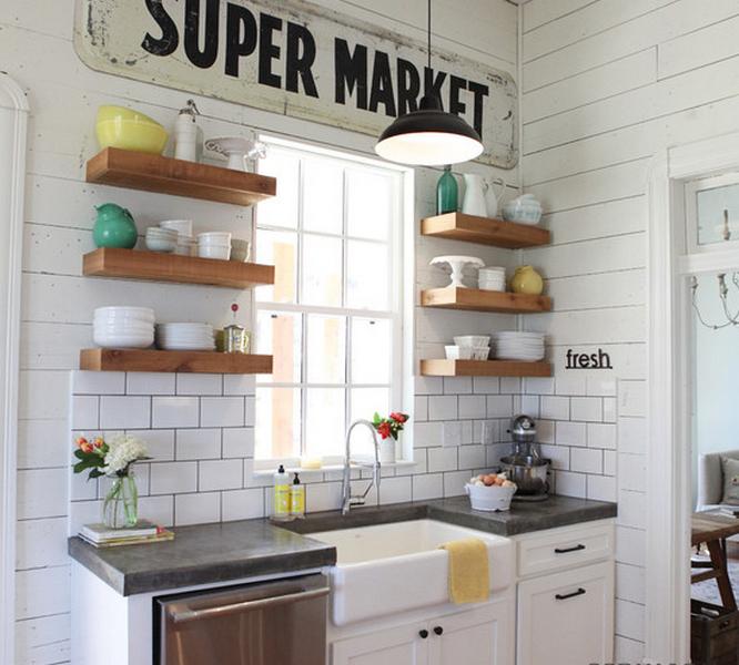 маленький кухонный гарнитур в скандинавском стиле фото