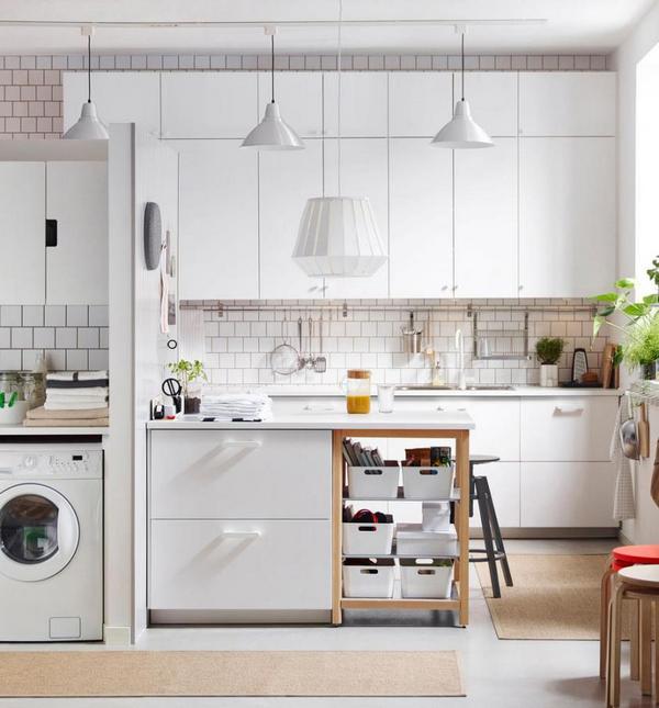 маленький кухонный гарнитур в скандинавском стиле