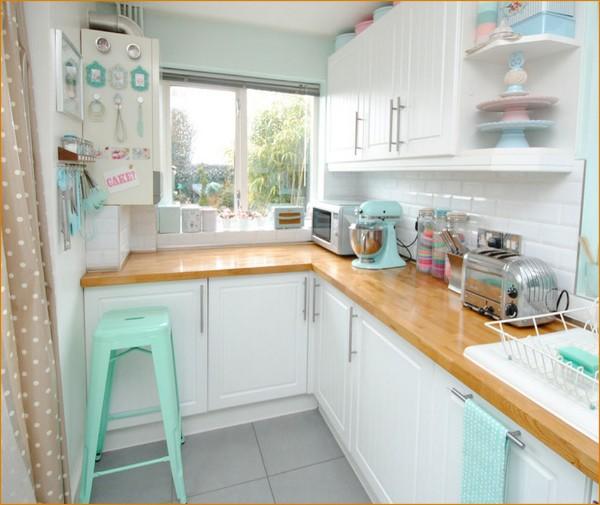 милый дизайн маленькая угловая кухня для маленькой кухни