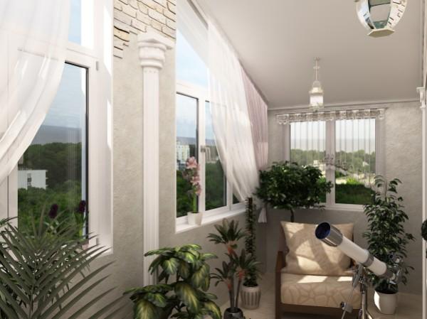 мини-обсерватория в дизайн маленького балкона