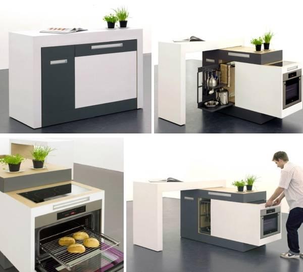 многофункциональная мебель трансформер для кухни
