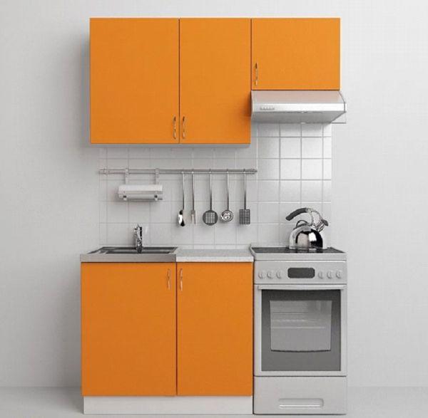 недорогой кухонный гарнитур для маленькой кухни жёлтого цвета
