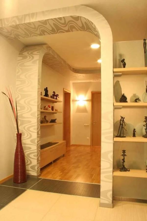 нетривиальные арки в дизайне коридора фото в квартире
